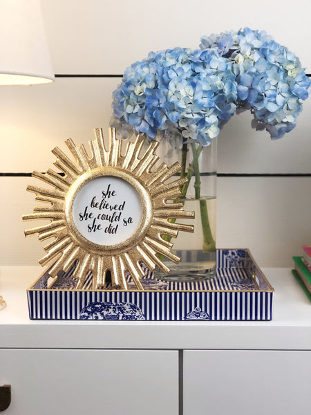 Preppy Blue and White Entryway Decor