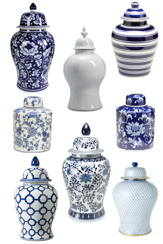 Blue and White Ginger Jar Home Inspiration Decor and Design