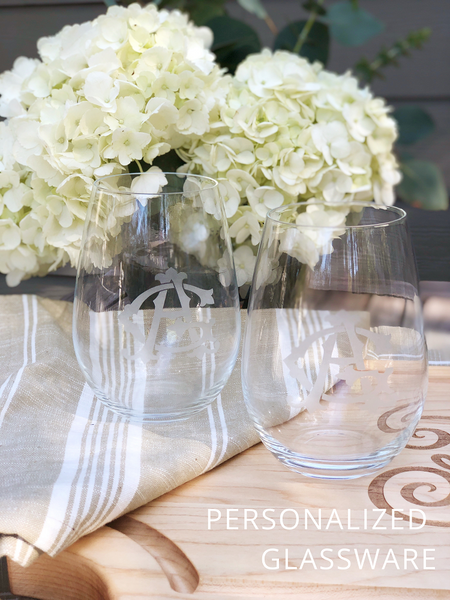 Personalized Engraved Bar and Glassware