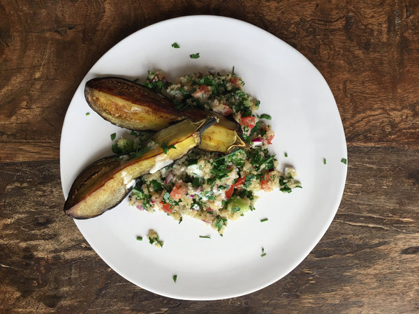 Quinoa Tabbouleh with Roasted Eggplant (2kd per serving)