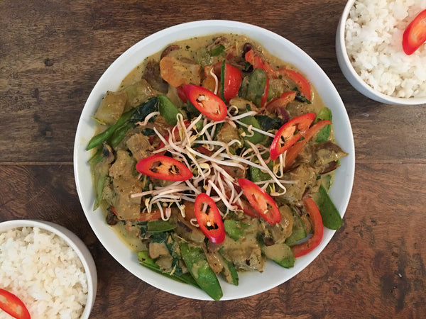 Eggplant Green Curry with Assorted Veggies (2.750kd per serving)