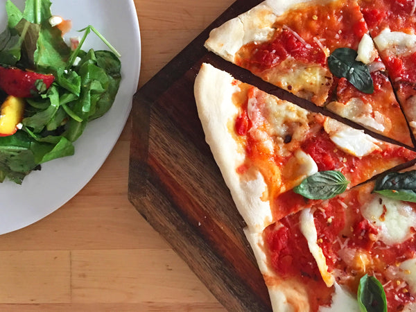 Classic Margherita with Grilled Peach Salad (2.75kd per serving)