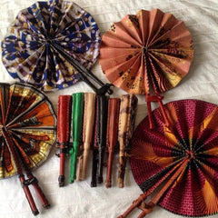 Multicolored Fans from Ghana