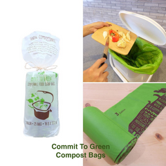 Eco-friendly Compostable Bags from Commit To Green