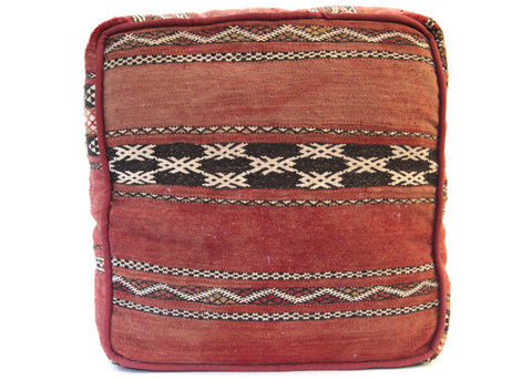 Moroccan Red Floor Pillow/ Pouf