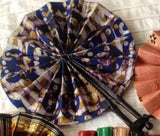 Leather batik fan from Ghana