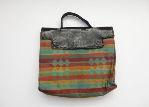 Leather tote bag from Ghana