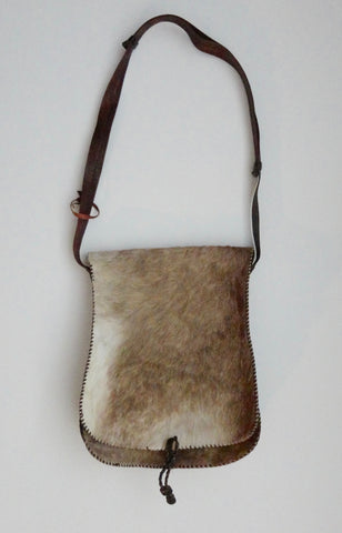 Cross Body Goat Skin Bag (Tanning) from Ghana