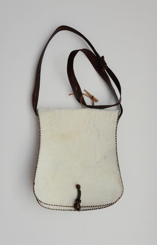 Leather Goat Skin bag from Ghana