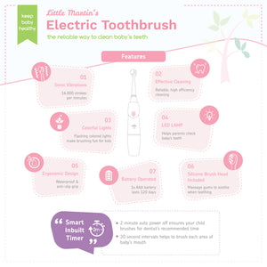 Little Martin's Baby Electric Toothbrush (Pink)