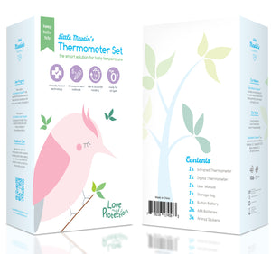 Little Martin's Medical Forehead and Ear Thermometer (Pink)