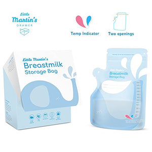 Little Martin's Breast Milk Storage Bags (Blue) - 60 Counts
