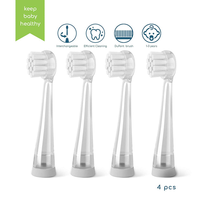 Little Martin's Drawer Toothbrush Replacement , 4pcs, FDA Approved