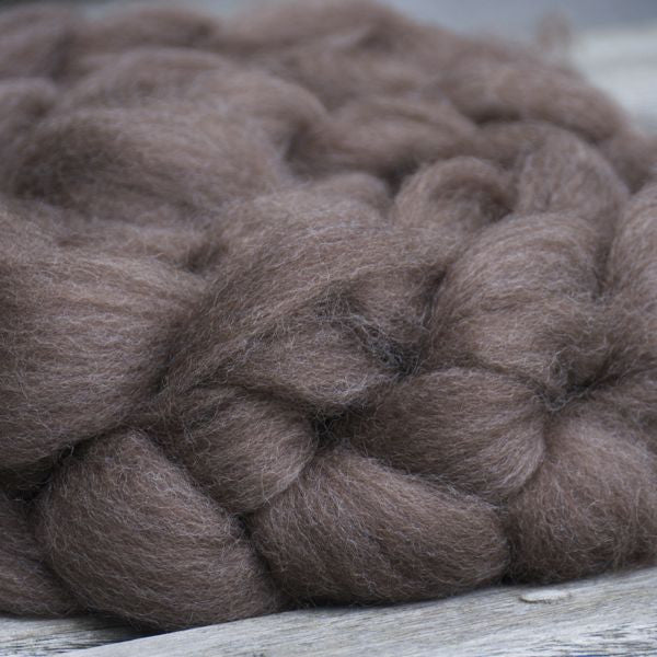 Haunui NZ Halfbred spinning fibre/fiber100g - Grey-Brown