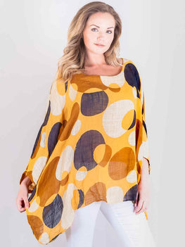 Wholesale Spotted Baggy Poncho Top