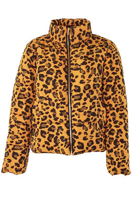 Wholesale Ladies Leopard Print Padded Jacket (Pack Of 6)