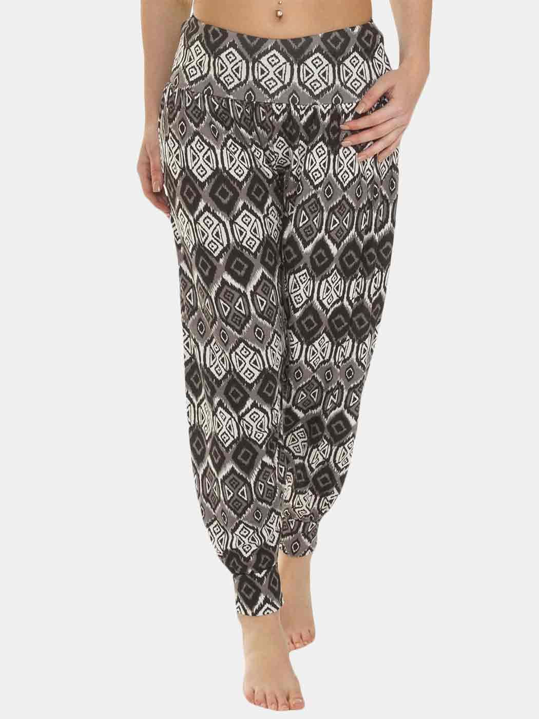Wholesale Large Aztec Print Full Length Ali Baba Harem Trousers (Pack Of 6)