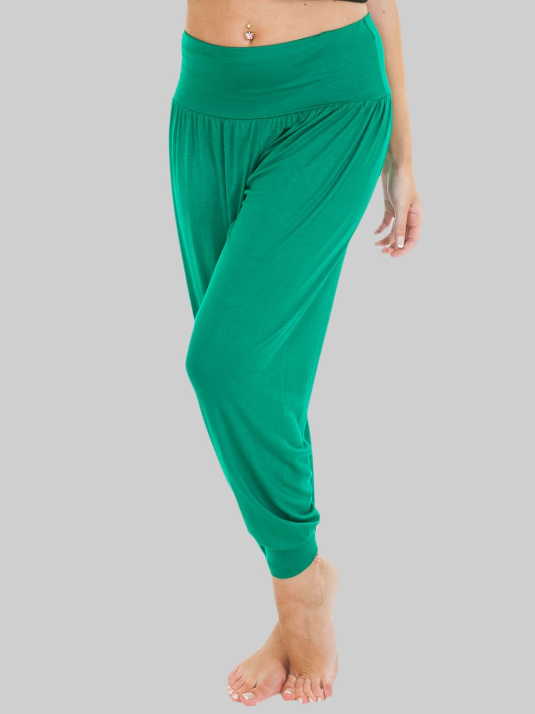 Wholesale Plain Full Length Ali Baba Harem Trousers (Pack Of 6)