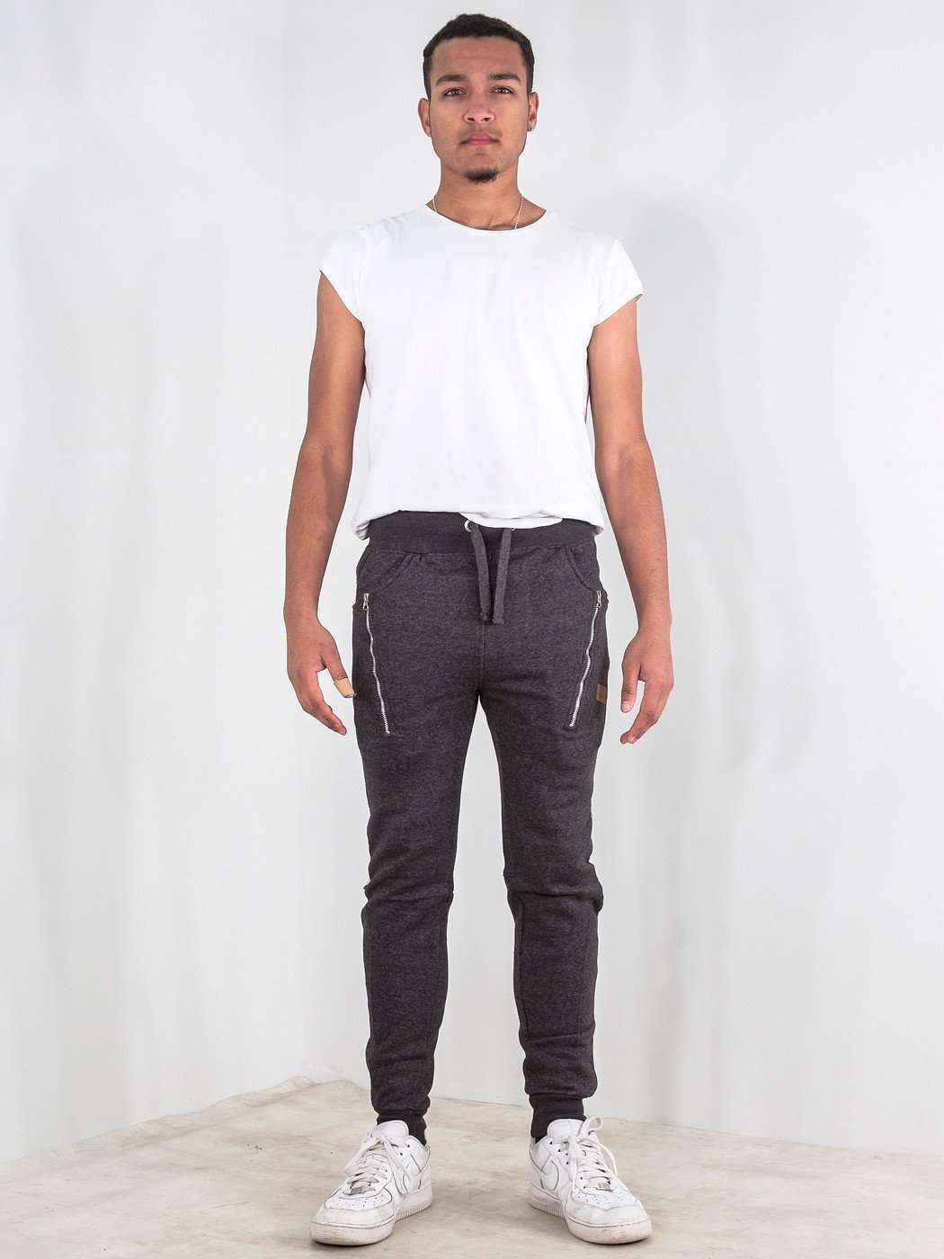 Wholesale (8 Piece) Zipped Skinny Joggers Bottom