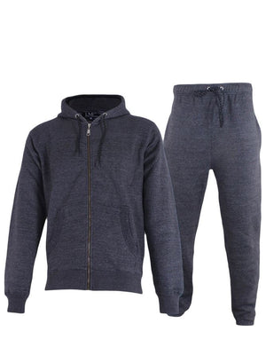 Wholesale Mens Plain Fleece Ribbed Panel Tracksuit (Pack Of 6)