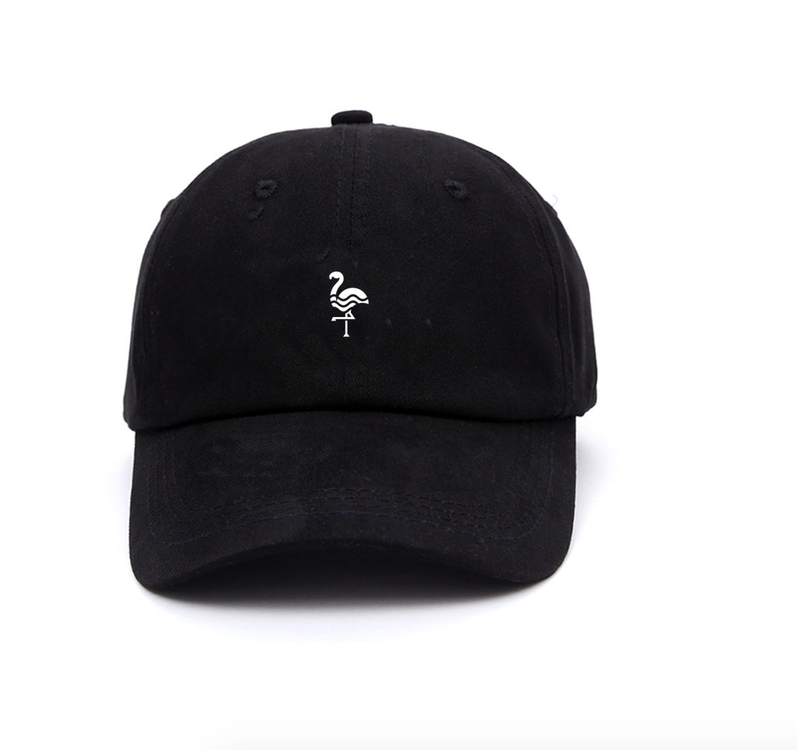 Yolkax Flamingo Cap - Black - Yolkax Clothing Headwear, Yolkax Clothing, Yolkax Clothing