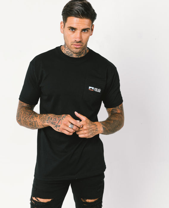 Yolkax Tech Pocket Tee - Black - Yolkax Clothing T-Shirts, Yolkax, Yolkax Clothing