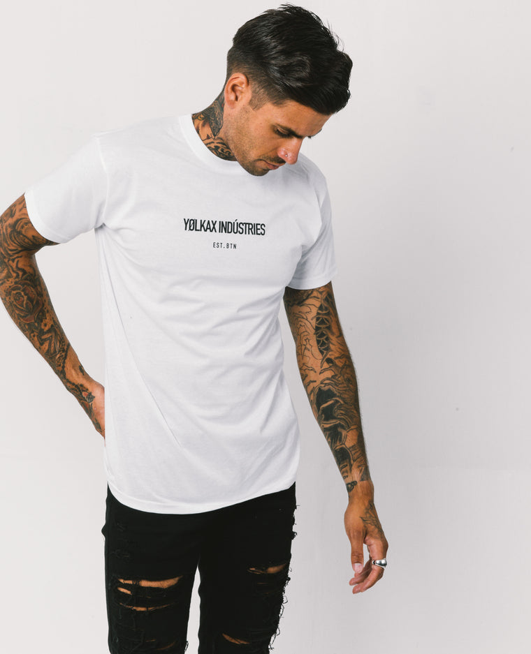 Brighton Tee - White - Yolkax Clothing T-Shirts, Yolkax, Yolkax Clothing