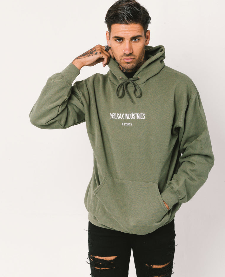 Brighton Hoodie - Military Green - Yolkax Clothing Sweatshirts & Hoodies, Yolkax, Yolkax Clothing