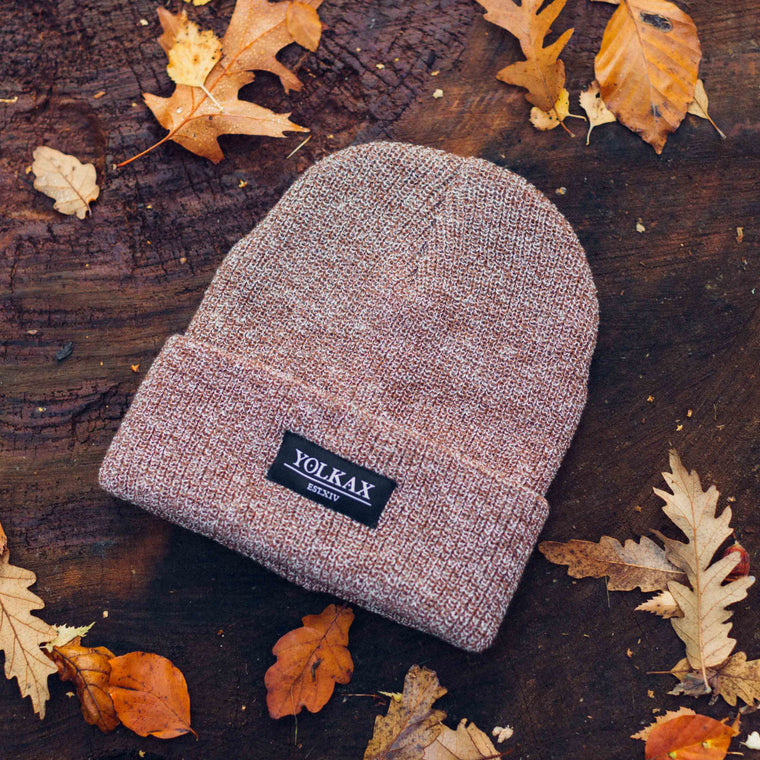 Yolkax Beanie - Heather Oatmeal / Black