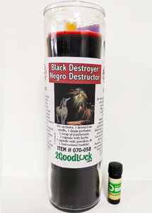 Black Destroyer Dressed Candle Kit - Negro Destructor