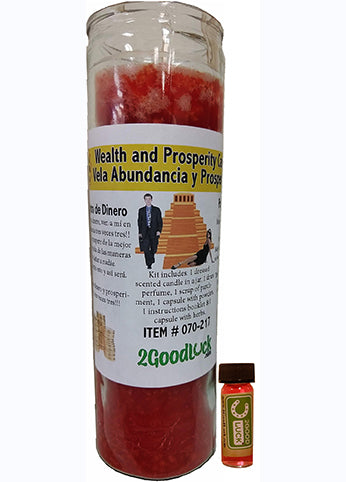 Wealth and Prosperity Dressed Candle Kit - Abundancia Y Prosperidad