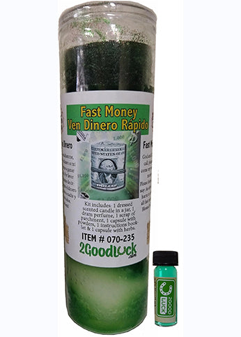 Fast Money Dressed Candle Kit  - Ven Dinero Rapido