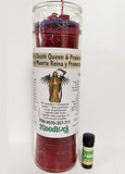 Holy Death Queen Protector Dressed Candle Kit - Santa Muerte Reina Protectora