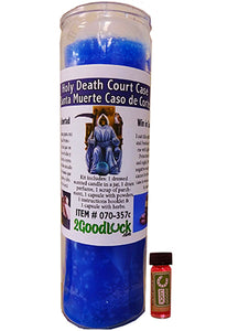 Holy Death Court Case Dressed Candle Kit - Santa Muerte Caso de Corte