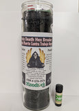 Holy Death Hex Breaker Dressed Candle Kit - Santa Muerte Contra Trabajo Negro