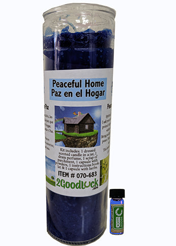 Peaceful Home Dressed Candle Kit - Paz En El Hogar
