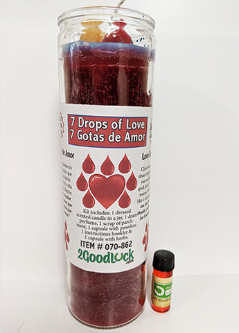 7 Drops of Love Dressed Scented Candle - 2GoodLuck