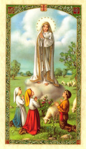 Our Lady Of Fatima Prayer Card - 2GoodLuck & My Jaguar Books