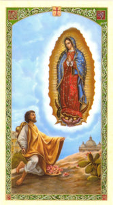 Our Lady Of Guadalupe W/Diego Prayer Card - 2GoodLuck & My Jaguar Books