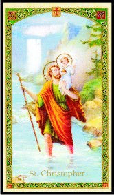 Saint Christopher Prayer Card - 2GoodLuck & My Jaguar Books