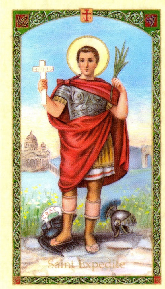 Saint Expedito Prayer Card - 2GoodLuck & My Jaguar Books