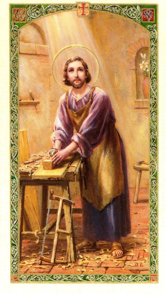 Saint Joseph Worker Prayer Card - 2GoodLuck & Jaguar Books