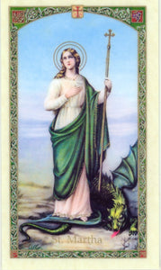Saint Martha Prayer Card - 2GoodLuck & Jaguar Books