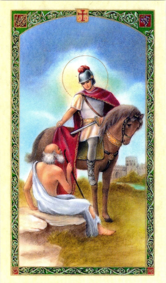 Saint Martin Caballero Prayer Card - 2GoodLuck & My Jaguar Books