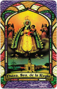 Our Lady of Regla Bilingual Prayer card / Estampa de la Virgen de Regla - My Jaguar Books