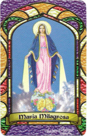 Miraculous Lady Bilingual Prayer card - 2GoodLuck & My Jaguar Books