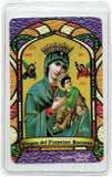 Virgin of Perpetual Assistance Bilingual Prayer card - Jaguar Books - 2