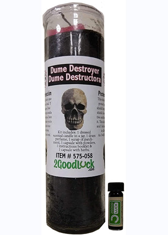 Dume Black Destroyer Dressed Candle Kit - Negro Destructor Dume