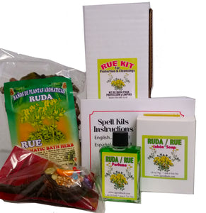 Rue Bath Kit For Protection & Cleansings with Perfume and Amulet