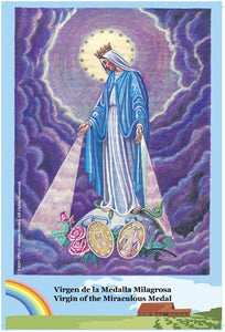 O.L. of Miraculous Medal Postcard with Prayer on the back - 2GoodLuck & My Jaguar Books